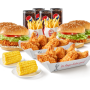 Family burger boxmeal for 4